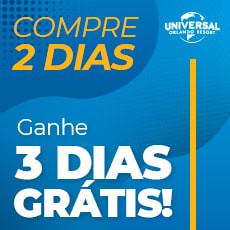 UNIVERSAL PROMO - 02 Dias   02 Parques + 03 Dias Grátis - Park To Park Ticket